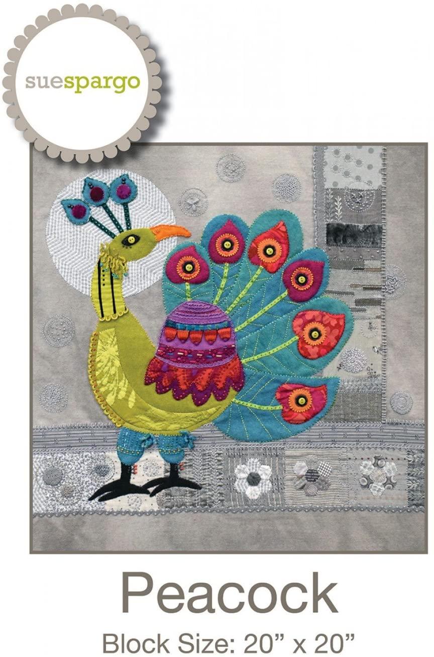 Peacock Pattern by Sue Spargo Wool Applique 20