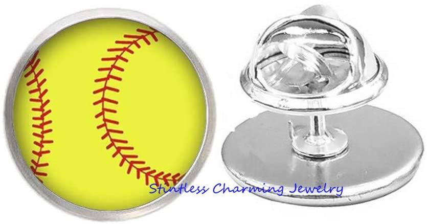stintless charming Jewelry Mens Sports Brooch - Mens Baseball Brooch - Mens Sports Pin - Mens Baseball Pin - Baseball Team Gift - Baseball Lover-JV308