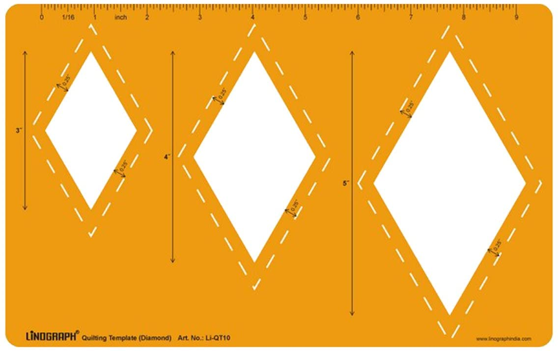 Diamond Shape Easy Cutting Patchwork Stencil Quilt Template
