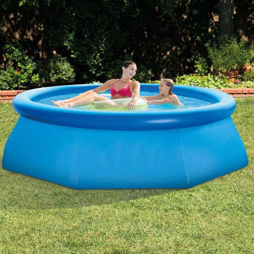 MO&SU Family Inflatable Swimming Pool for Adult Child, Large Kiddie Pool Outdoor Garden Backyard Blow Up Pool-244x244x76cm(8ftx8ftx2.5ft)