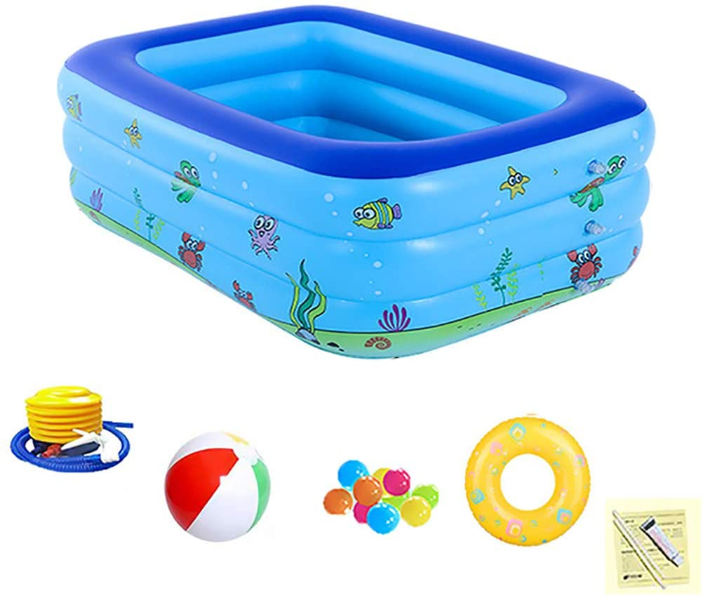 ZEIYUQI Inflatable Swimming Pool for Children Portable Backyard Toys Anti-Slippery Foldable Water Toys for Summer Family Party