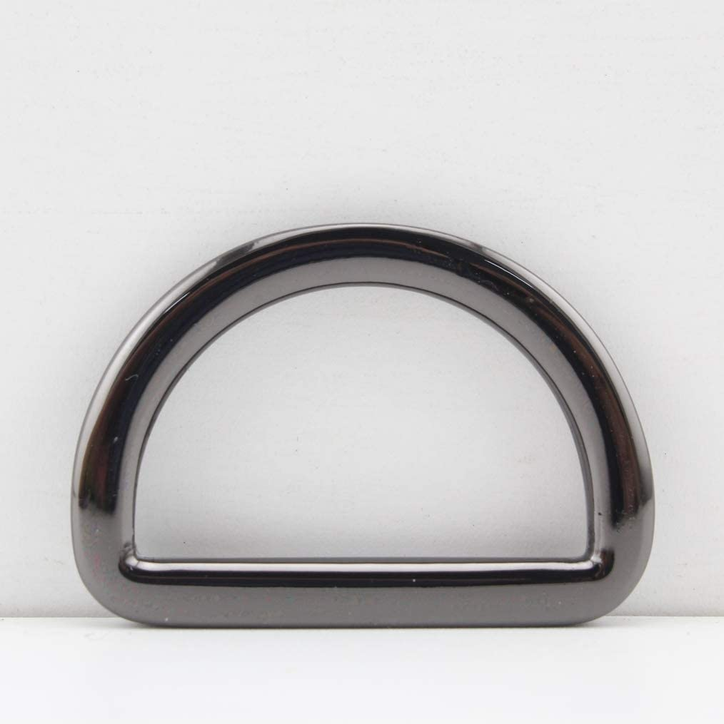 Gunmetal, 5/8 inch / 15mm 6 Different Size Zinc Alloy D Rings D-Ring for Buckle Straps Bags Belt,Purse Making, Bag Making,Bag Replacement, 12 Pieces per lot U154