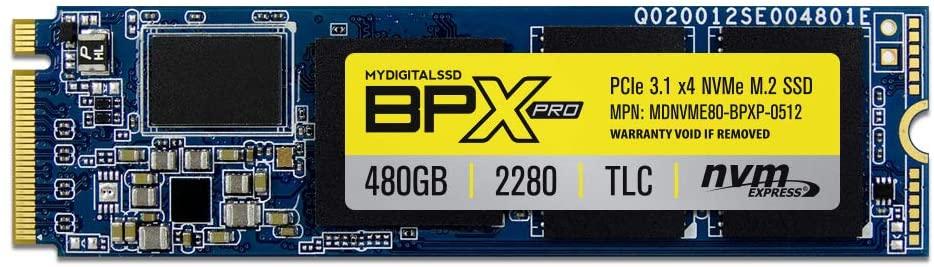 MyDigitalSSD BPX Pro 80mm (2280-S3-M) M.2 PCI Express 3.1 x4 (PCIe Gen3 x4) NVMe SSD (2TB (1920GB))