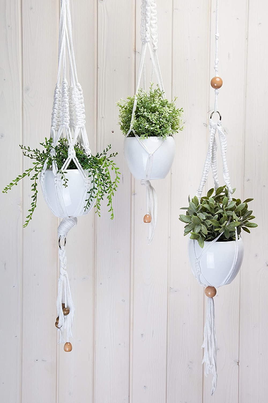 Hoooked Macrame Hanging Basket Kit W/Zpagetti Yarn-Black