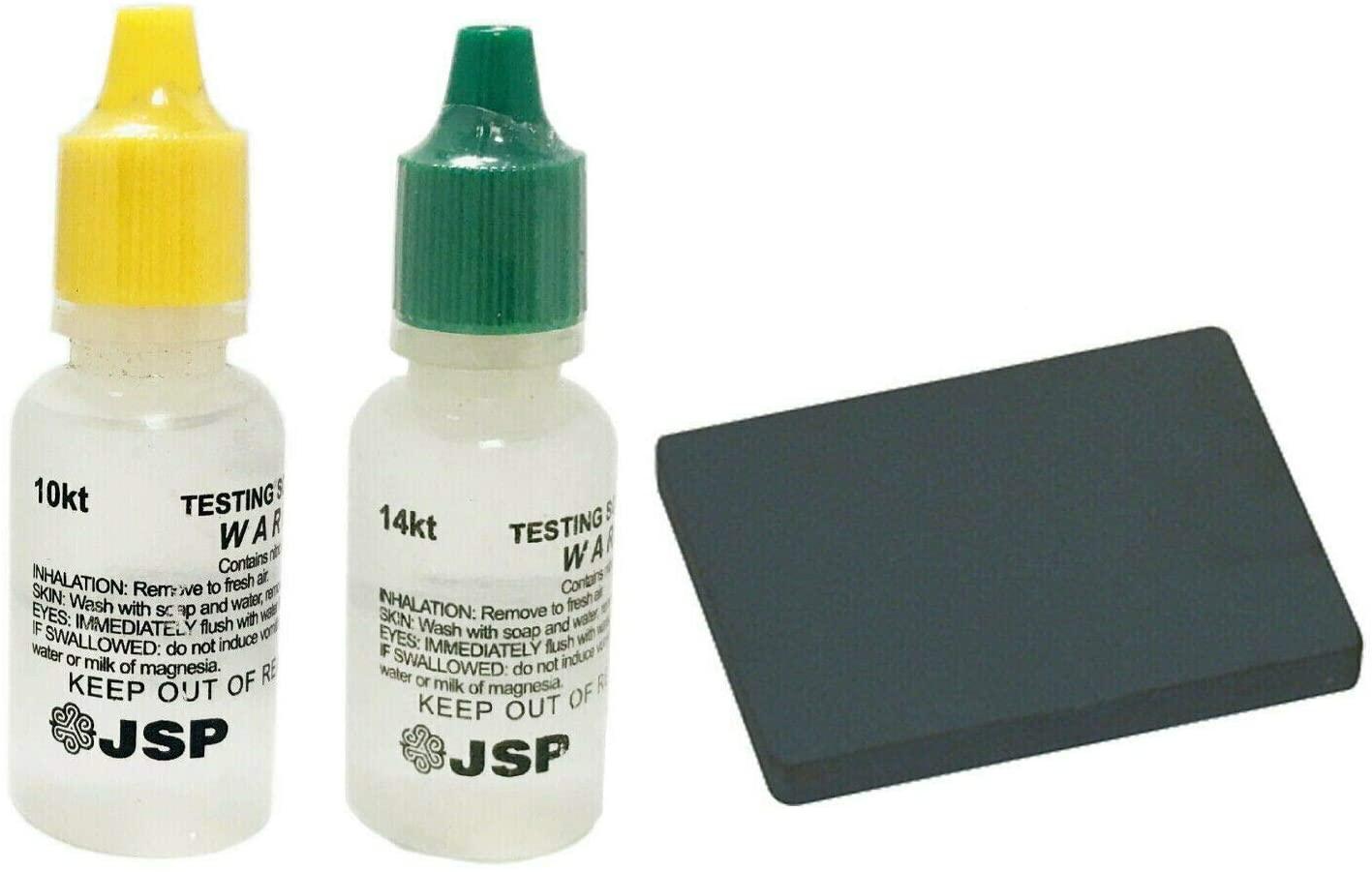 Gold Test Acid Tester Kit 10k 14k & Testing Stone