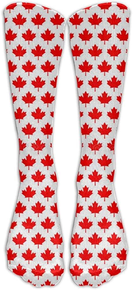 YOIGNG Socks Maple Leaf Canadian Knee High Tube Dresses Liner Cosplay Stockings
