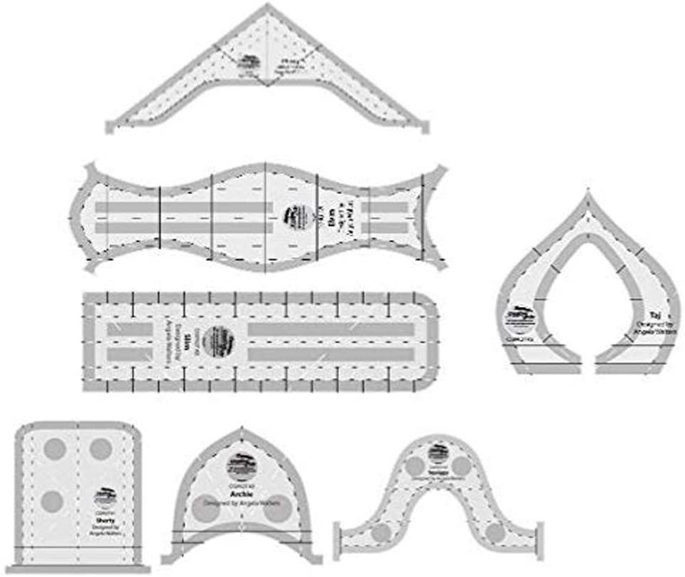Creative Grids Machine Quilting Tools Rulers - Taj, Elvira, Chevy, Squiggy, Shorty, Slim, Archie