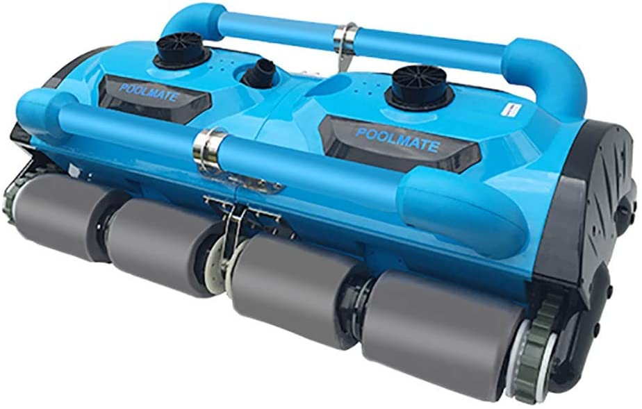AHELT-J Automatic Robotic Pool Cleaner, Portable Pool Cleaner with Wall Climbing&Waterline-Cleaning Function, 2 Large Filter Baskets, Ideal Pool Cleaner for In-ground/Above Ground Pools up to 50ft.