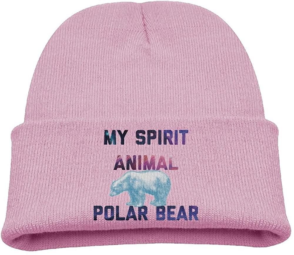 ZWZ Spirit Animal Polar Bear Kid's Hats Winter Funny Soft Knit Beanie Cap, Unisex