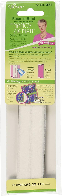 CLOVER Fuse'N Bind Fusible Binding Tape 1/2-Inch, 6-Yard