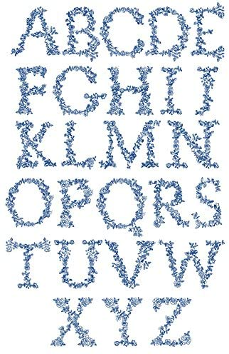 ThreaDelight ABC Machine Embroidery Designs Set - Redwork Alphabet Embroidery Designs 52 Designs - All 26 Capital Letters in Two Sizes 5x7 Hoop - CD