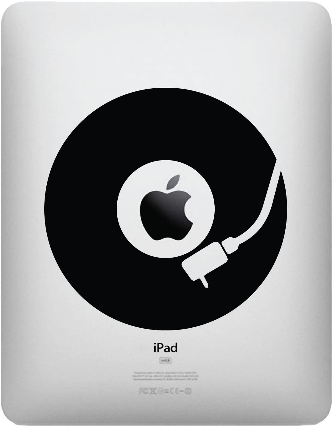 Yadda-Yadda Design Co. IPAD - Vinyl Record - Vinyl Decal Sticker for iPad (5.25