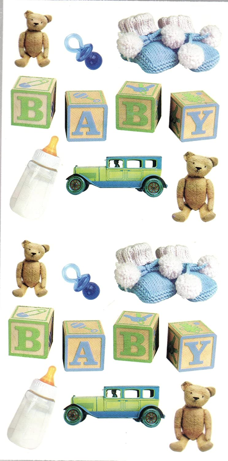Baby Boy Scrapbook Stickers (STF252)
