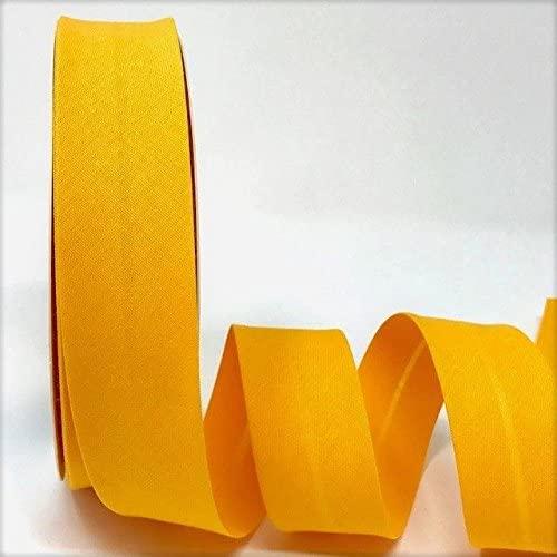 Byetsa Mustard 30mm Polycotton Bias Tape on a 25m Roll