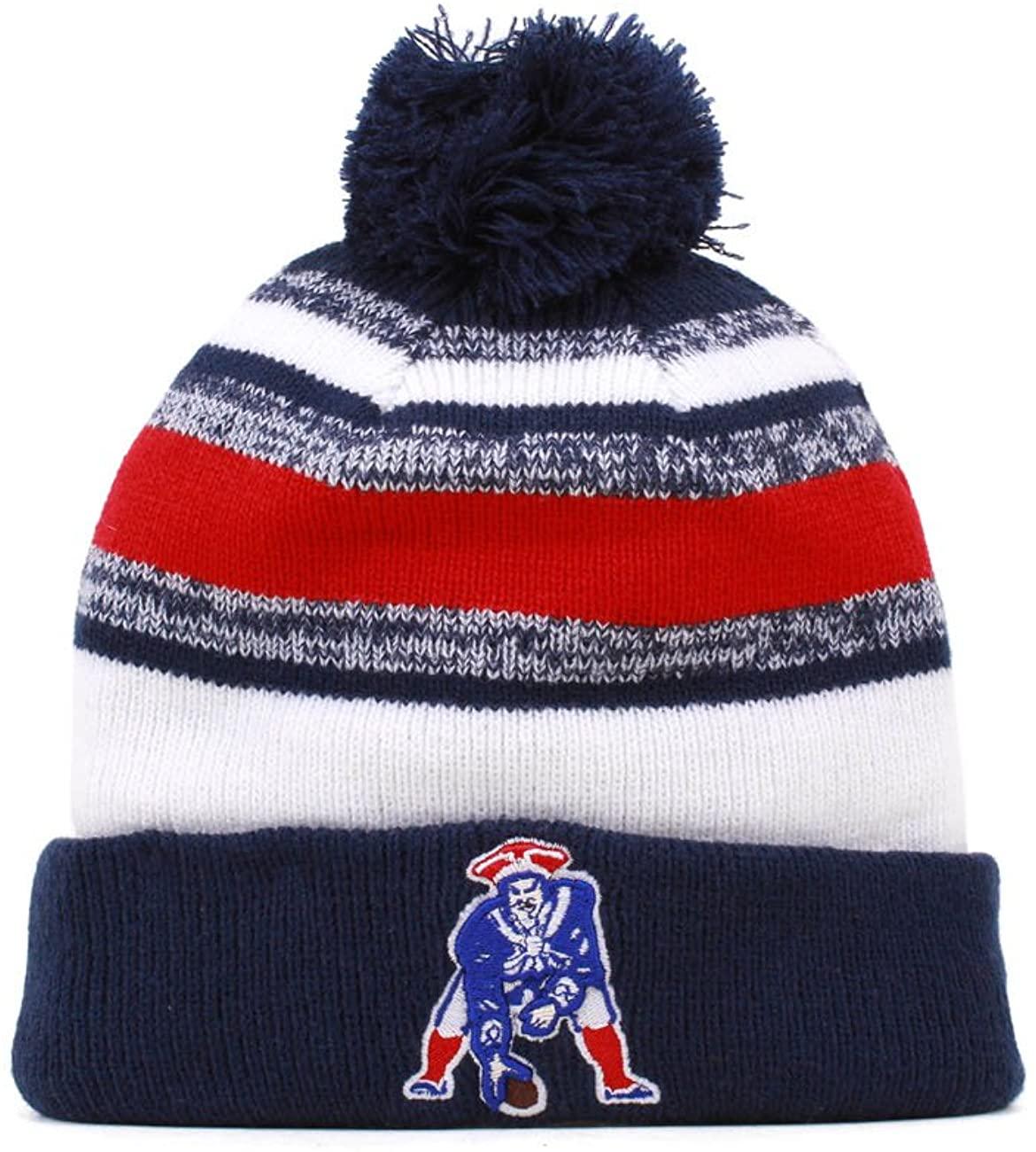 New England Patriots 2014 On Field Classic Sport Cuffed Pom Knit Beanie Hat/Cap