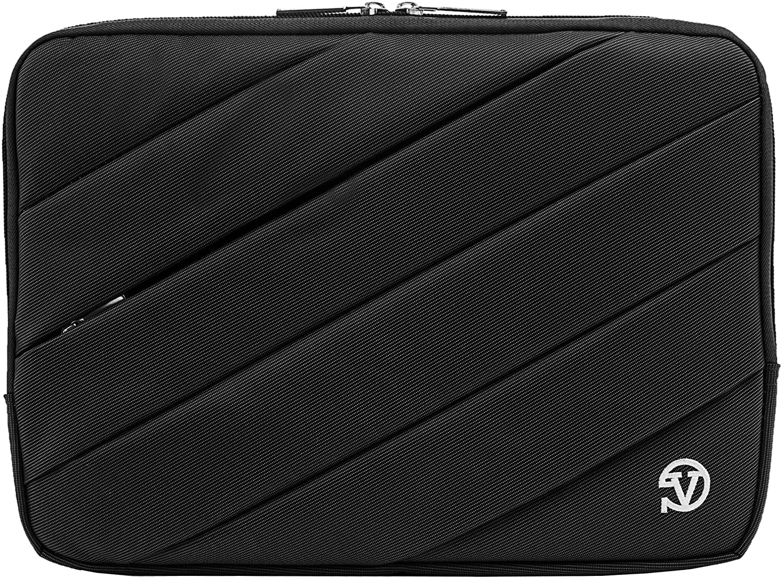 Premium Nylon Padded Rugged Tablet Case Jam Sleeve (Jet Black) For Microsoft Surface Pro 12 inch Tablet Case
