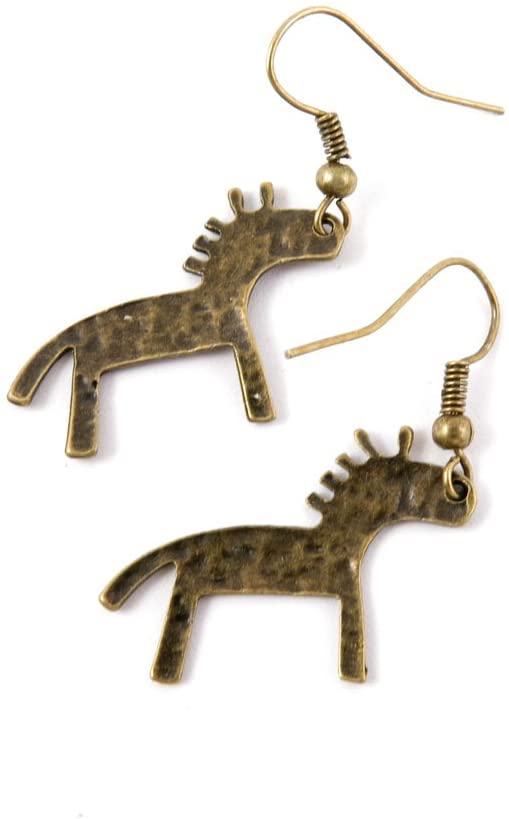 60 Pairs Jewelry Making Charms Supply Supplies Wholesale Fashion Earring Backs Findings Ear Hooks V4CP4 Pony Horse