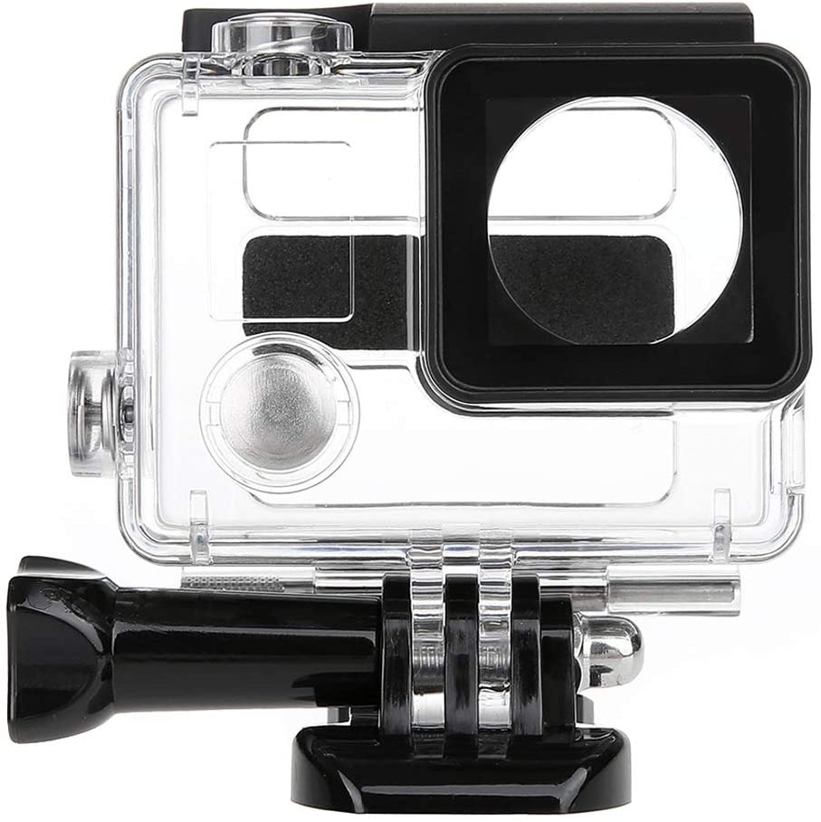 Camera Accessories 2 in 1 Waterproof Protective Housing Case Diving Box + External Mini Stereo MIC Microphone with 17CM 3.5mm to Mini USB 10 Pin Adapter Cable for for GoPro Hero 4/3+ / 3, Microphone