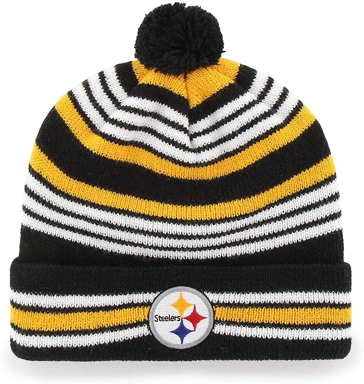'47 Brand Yipes Youth Beanie Hat POM POM - NFL Kids Cuffed Winter Toque Knit Cap