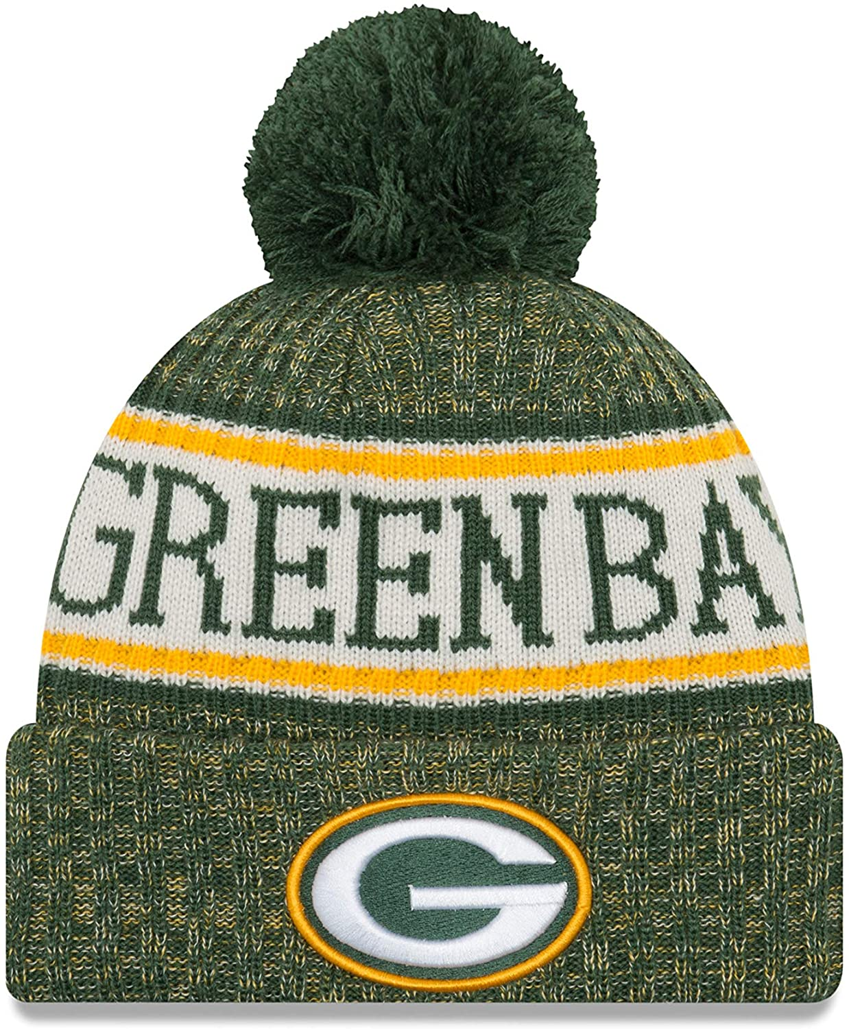 New Era Youth Green Bay Packers Sport Knit NFL Beanie Black, Jr./ Youth