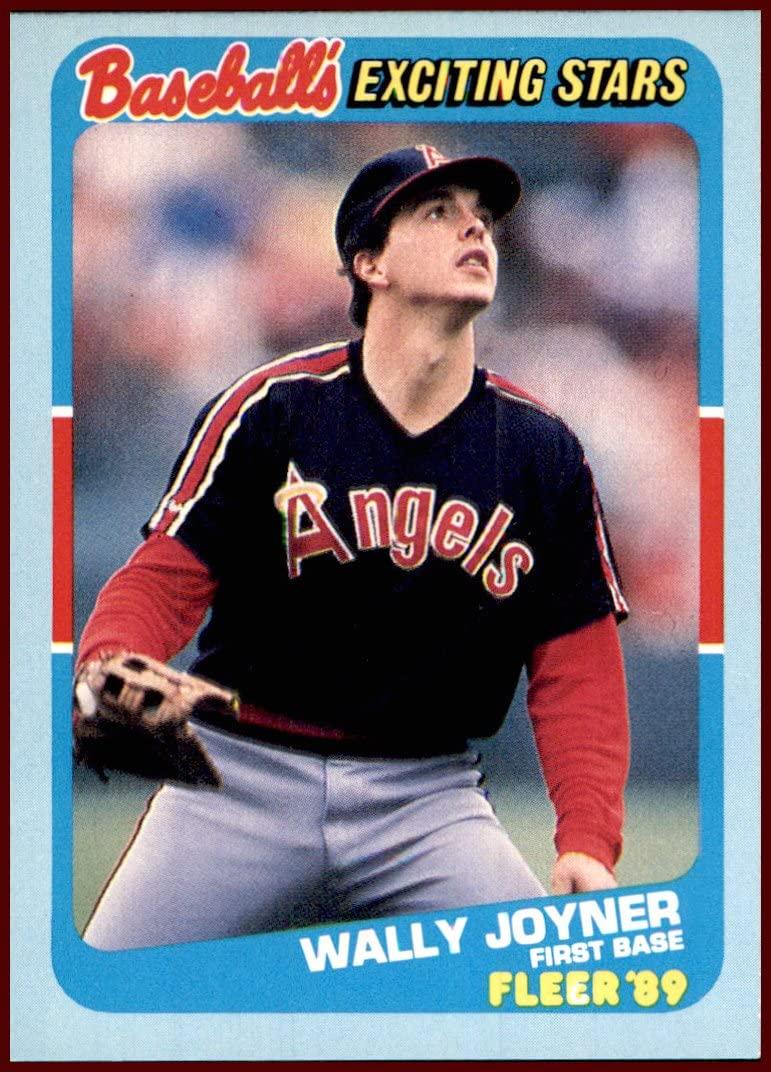 Wally Joyner CALIFORNIA ANGELS 1989 Fleer Baseball's Exciting Stars #28