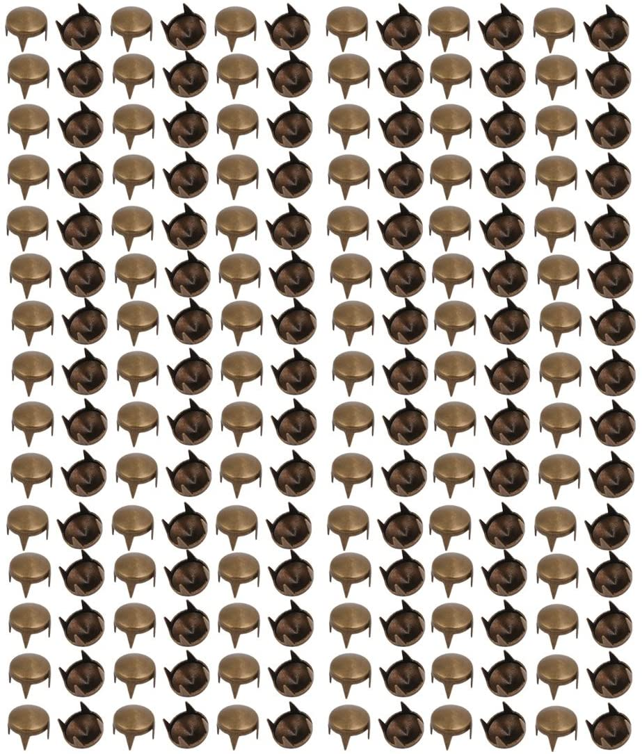 uxcell 200pcs 7mm Pointed Design Paper Brad Bronze Tone for Scrapbooking DIY Craft