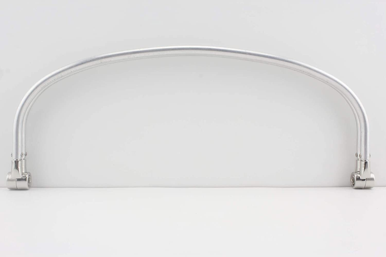 3DANCraftit 12 inch Silver Nickel aluminous Tubular Internal Hinge Doctor Bag Frame Purse Frame for Bag Making Z19
