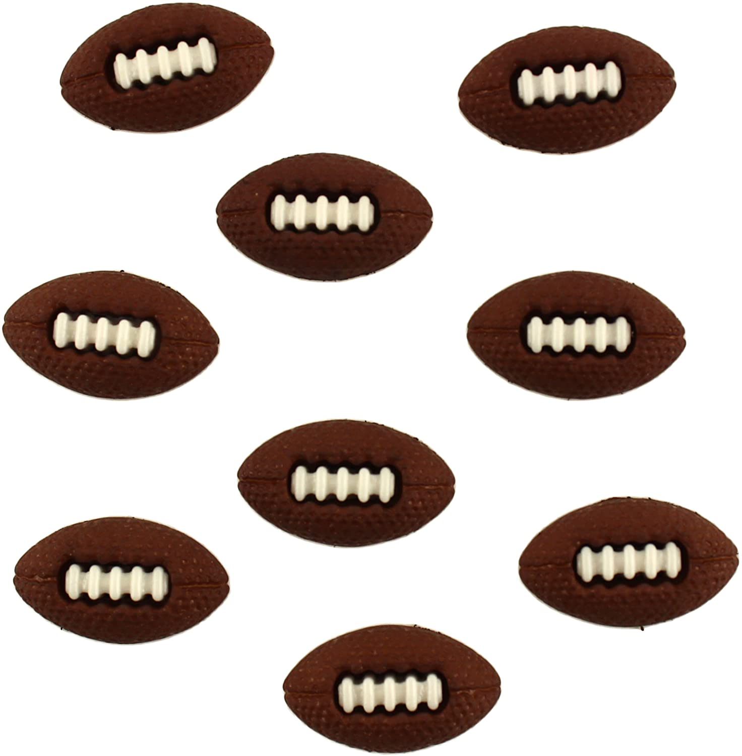 Buttons Galore Craft & Sewing Buttons - Footballs - 3 Packs (27 Buttons)
