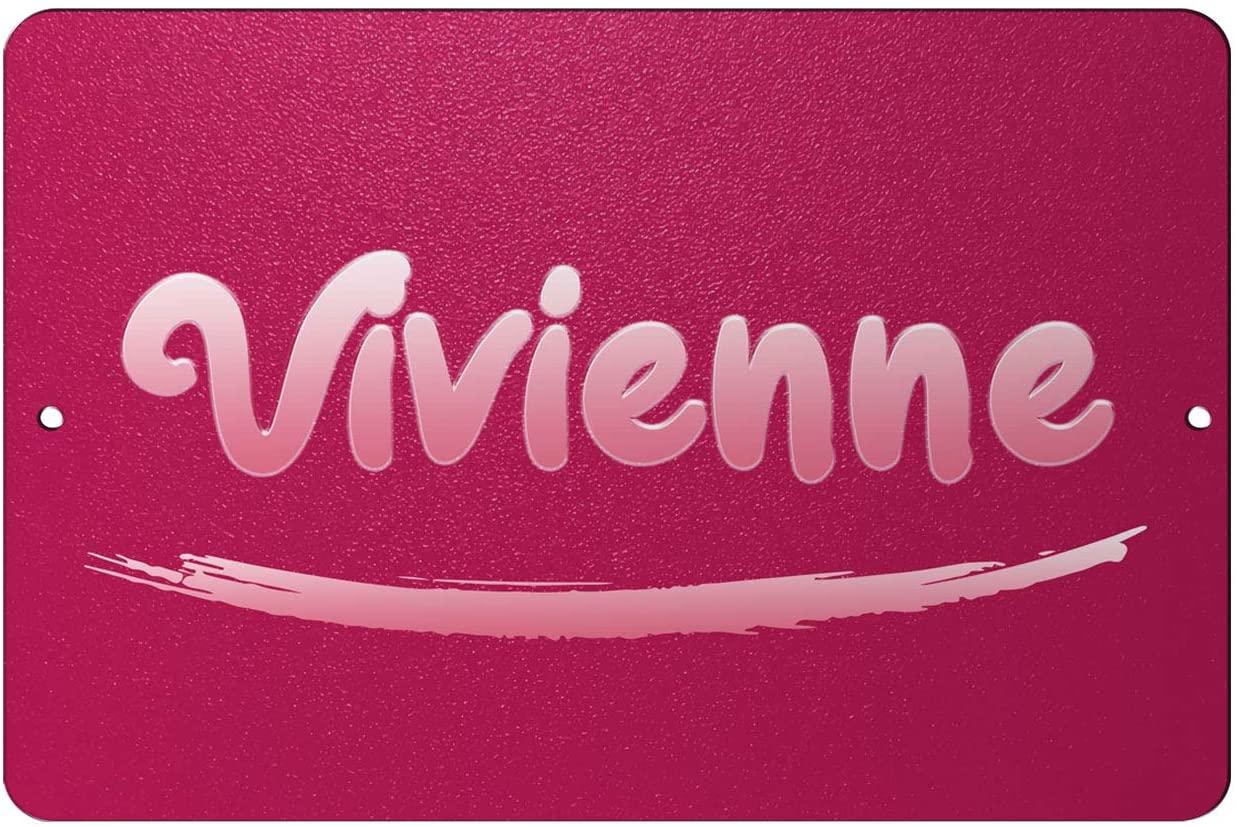 Makoroni - Vivienne Female Name 12x18 inc Aluminum Decorative Wall Street Sign