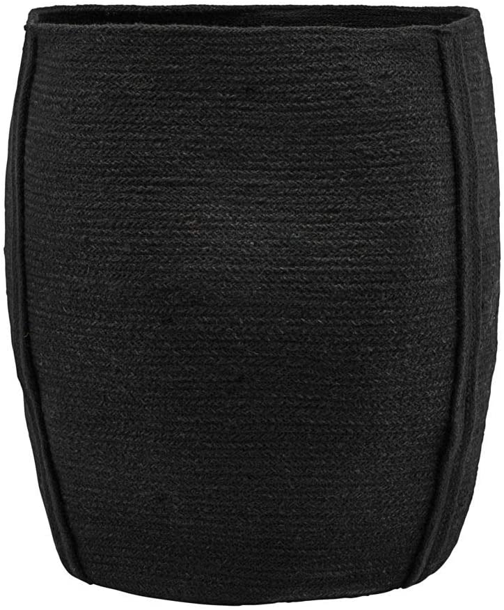 House Doctor Basket Drum, Black, 40 x 40 cm