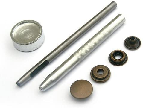 easygraphic.co.uk Heavy Duty Poppers Snap Fastener, Press Studs, Sewing Rivets, with Or Without Handheld for Leather Craft,