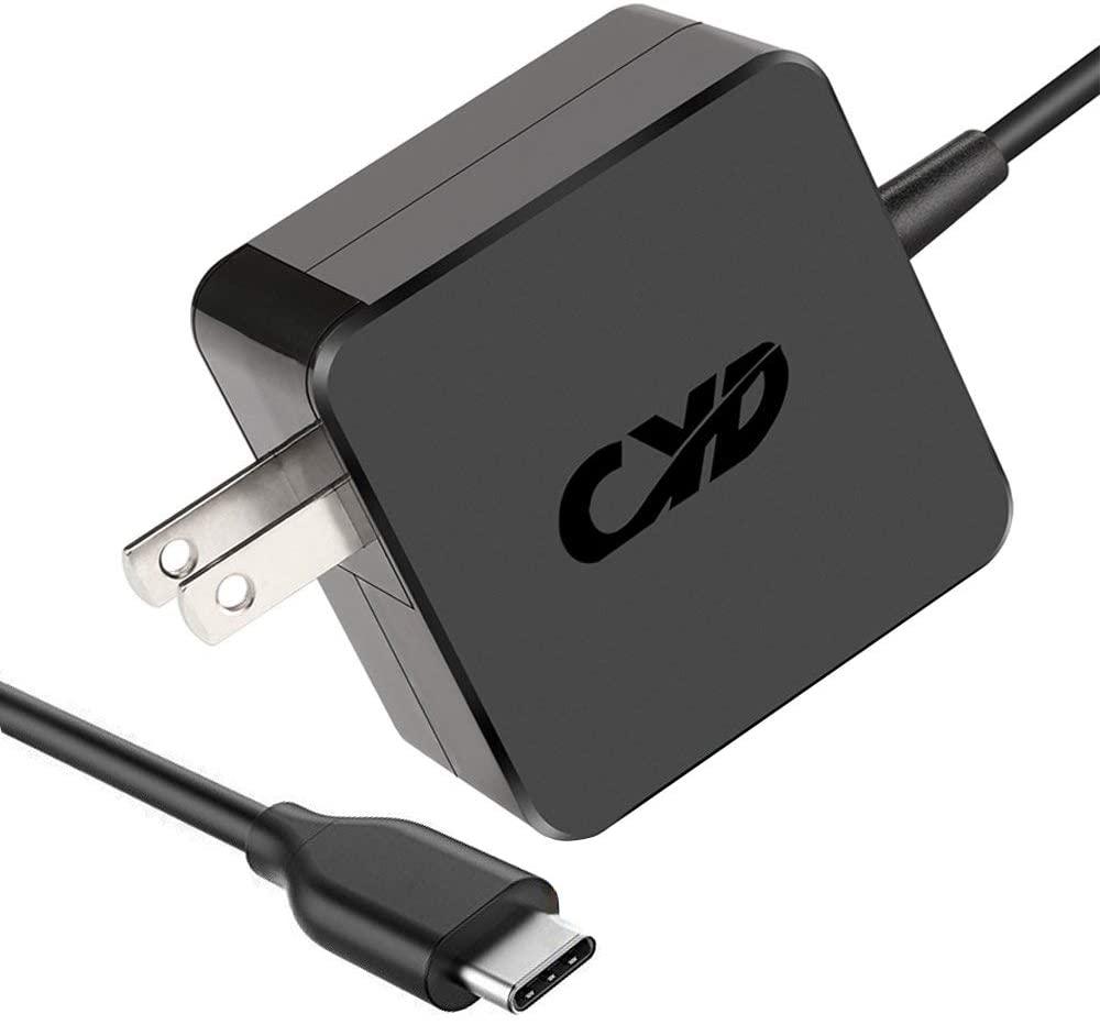 CYD 65W 45W USB-C Type-C PD Charger Replacement for Laptop MacBook pro a1534 emc2991 a1706 emc3071 asus transform3pro Lenovo thinkpad-s2 Samsung 900x52 mibook Huawei matebook x pro Google Nexus 6p
