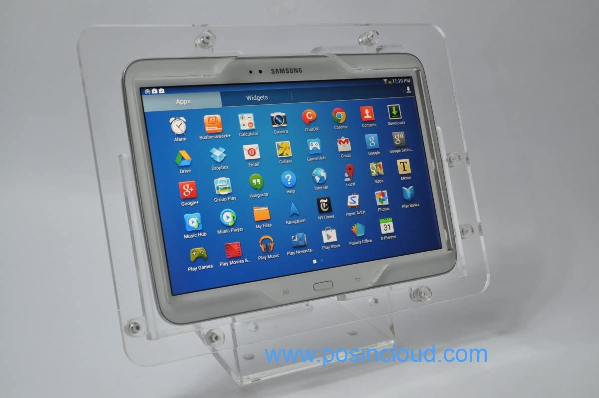 Clear Desktop Security Stand for TABcare Compatible Samsung Galaxy Tab S 10.5 Used as Kiosk, POS, Store Display, Show Display