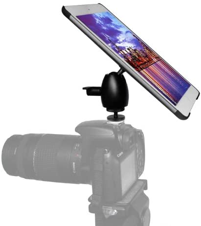iShot G8 Pro iPad Mini 1 2 3 Camera DSLR or Hot Cold Shoe Connection Mount Adapter + 360°Mini Ball Head + G8 Pro iPad Mini Tripod Mount Case - Compatible with iPad Mini 1st 2nd or 3rd Gen Only