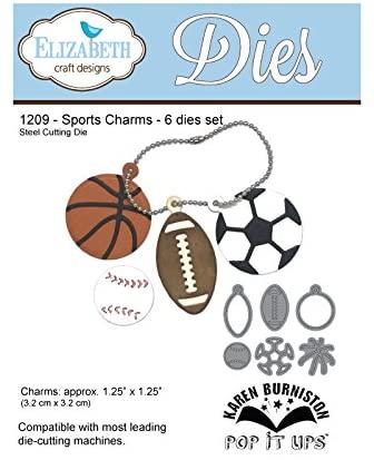 Pessoa Sports Charms Die, 17.7 x 11.3 x 0.2 cm, Grey