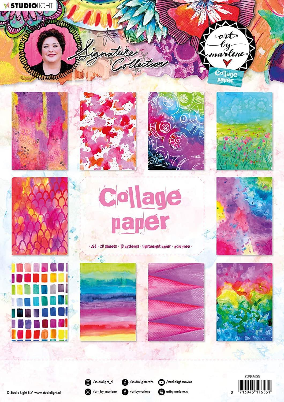 Studio Light Collage Paper, 21 x 29,7 cm, Colorful