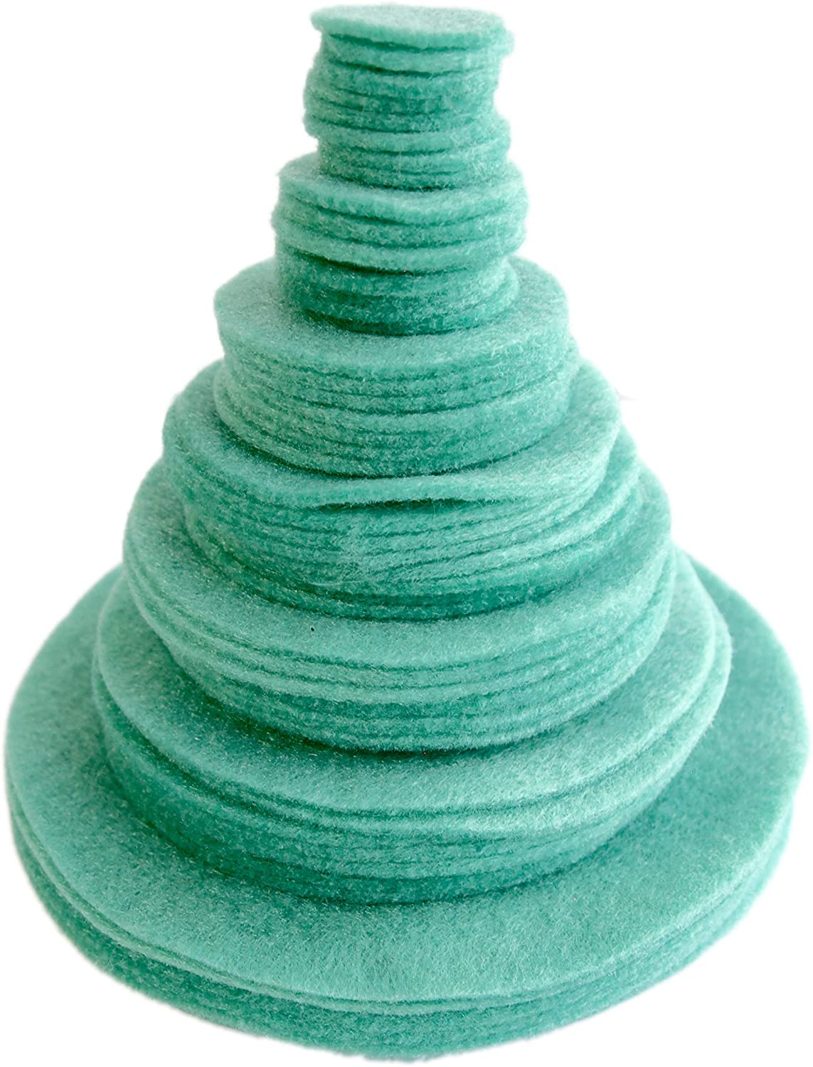 Playfully Ever After Sea Greeen Craft Felt Circles (Mixed Size Pack - 56pc)