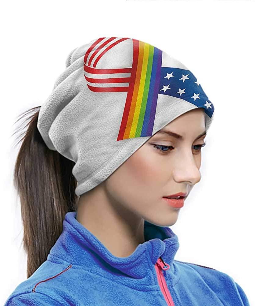 Headwear Pride, Rainbow Ribbon Solidarity Elastic Headwear Thin, Stretchy, Soft, Unique Pattern 10 x 11.6 Inch