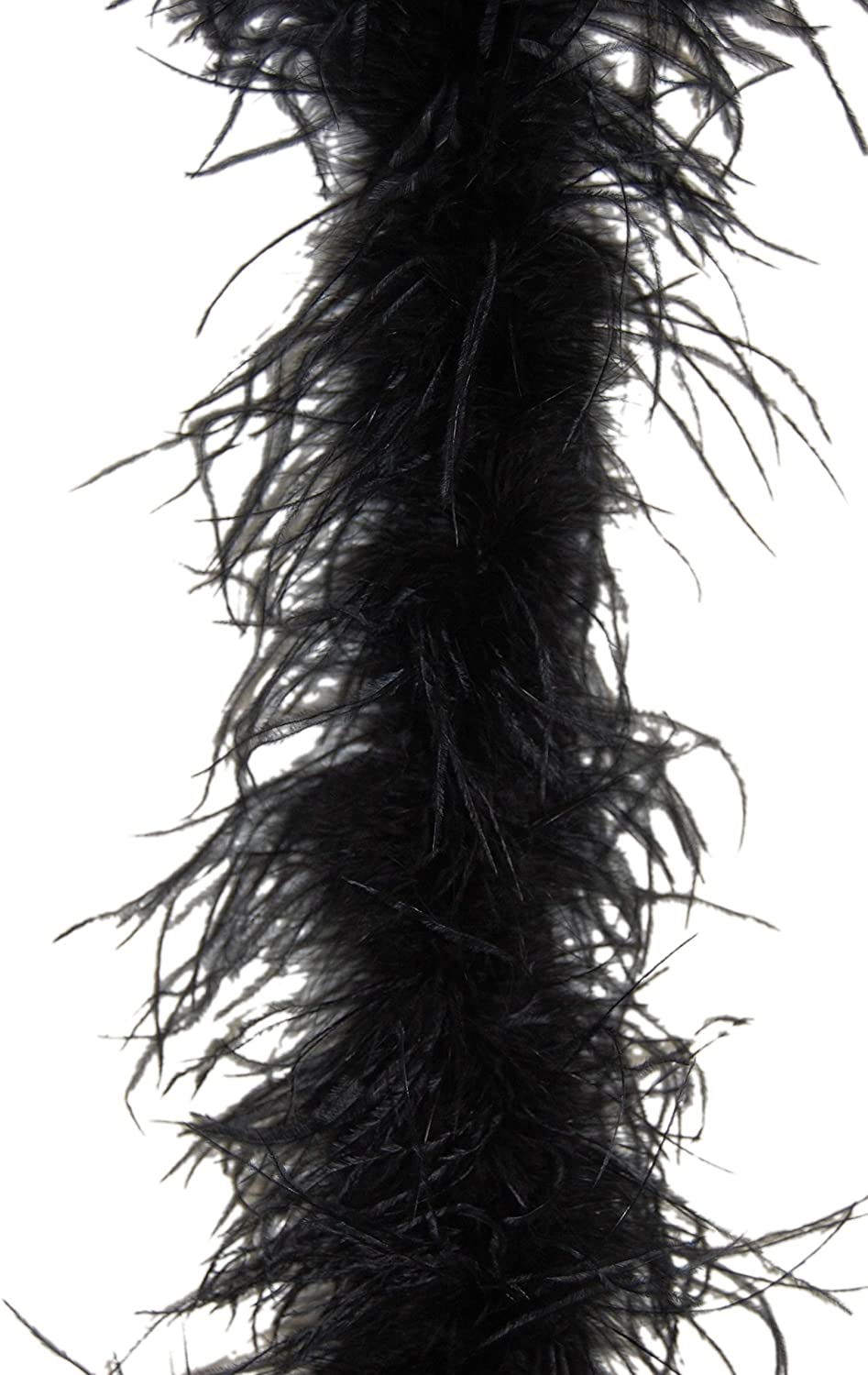 2 Ply Ostrich Feather Boa - Black 2 Yards