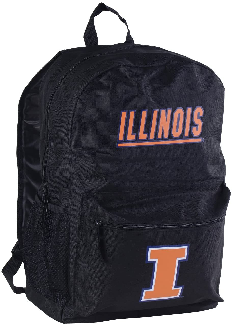 NCAA Illinois Illini Sprint Backpack, 18-inches