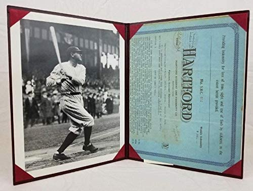 Babe Ruth Replica The Hartford Life Insurance Policy Application w/ 8x10 Photo - MLB Autographed Miscellaneous Items