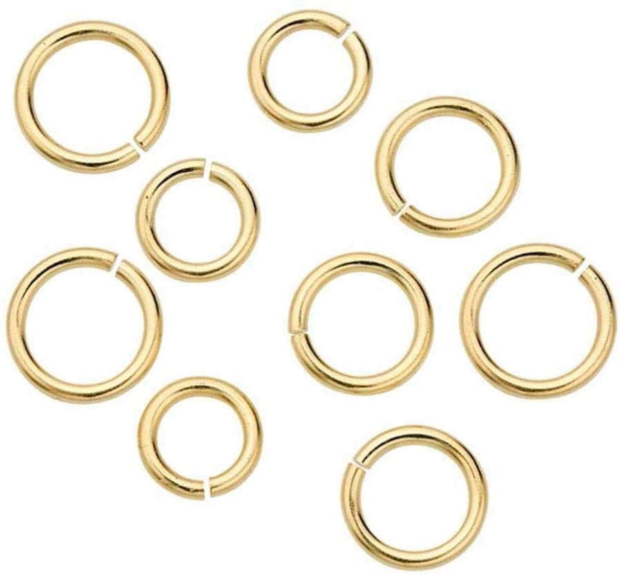 50pcs Gold Plated 925 Sterling Silver Open Jump Rings 6mm (0.24 inch) Connector (Strong Wire 0.9mm or 19 Gauge) for Jewelry Craft Making SS80-6