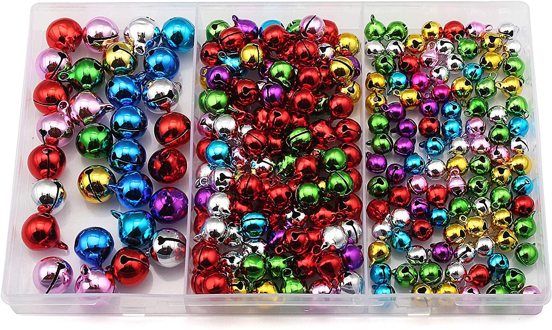 Jingle Bells,Craft Bells Bulk for Christmas Decoration,8mm 10mm 14mm,230pcs