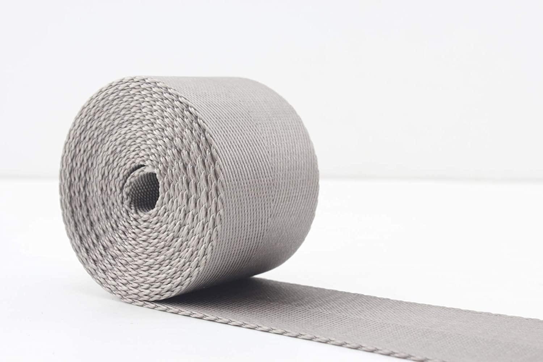 3DANCraftit 1 1/2 inch (38mm) Heavy Weight Nylon Webbing Grey 5 Yards ZC95