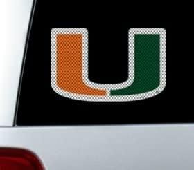 Miami Hurricanes Die-Cut Window Film - Large Catalog Category: NCAA