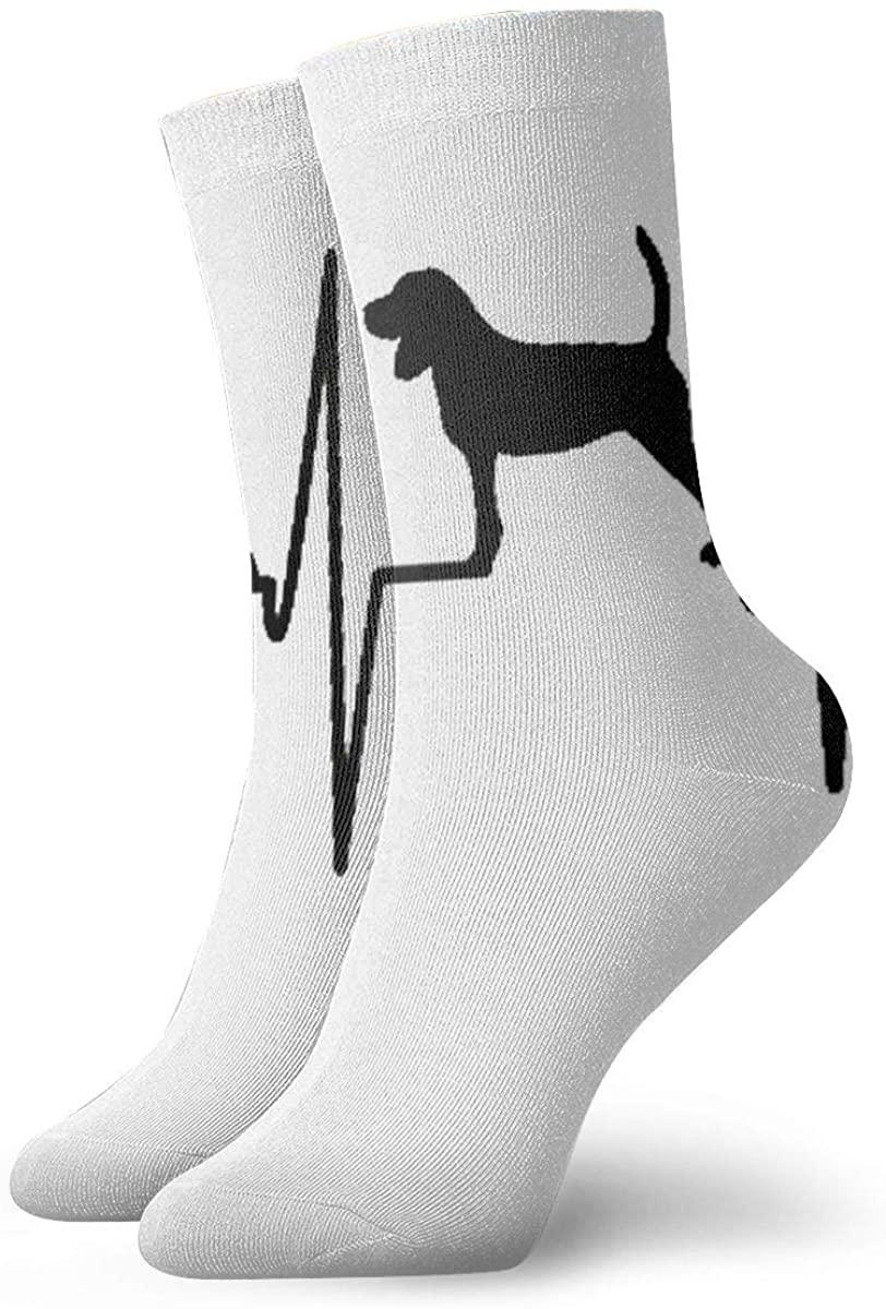 Beagle Heartbeat Womens Casual Athletic Stockings Short Crew Socks
