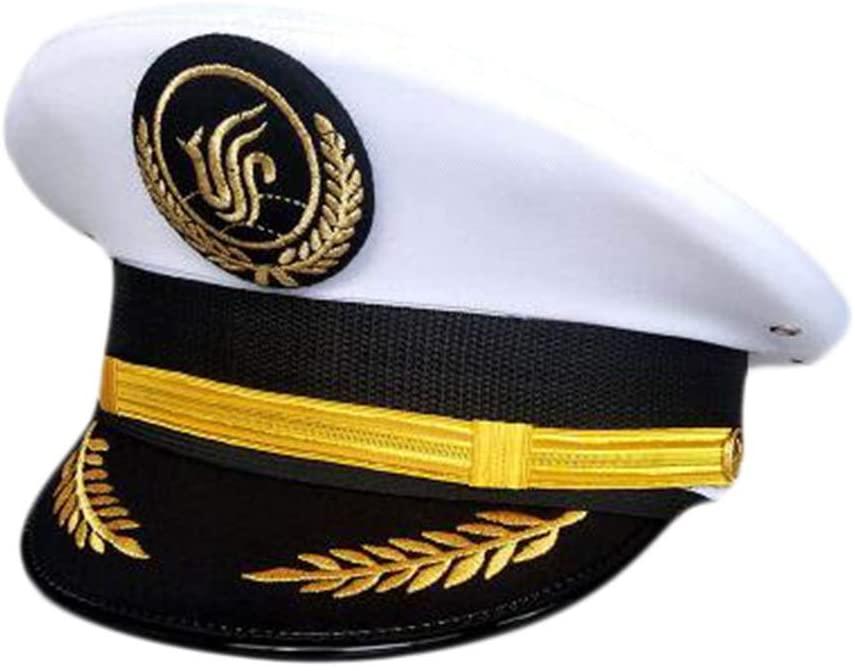 George Jimmy Aircraft Captain Cap Uniform Aviation Cap Railway Hat Costume Accessory-A21