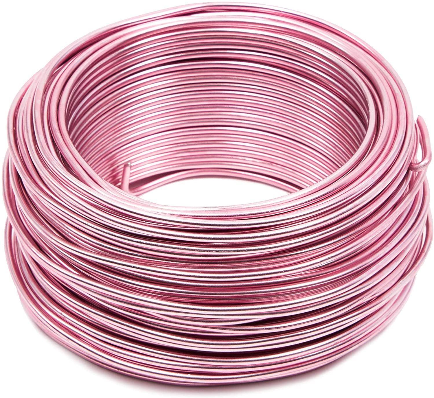 Bright Creations Aluminum Wire for DIY Crafts, 101 Feet, 12 Gauge, Light Pink