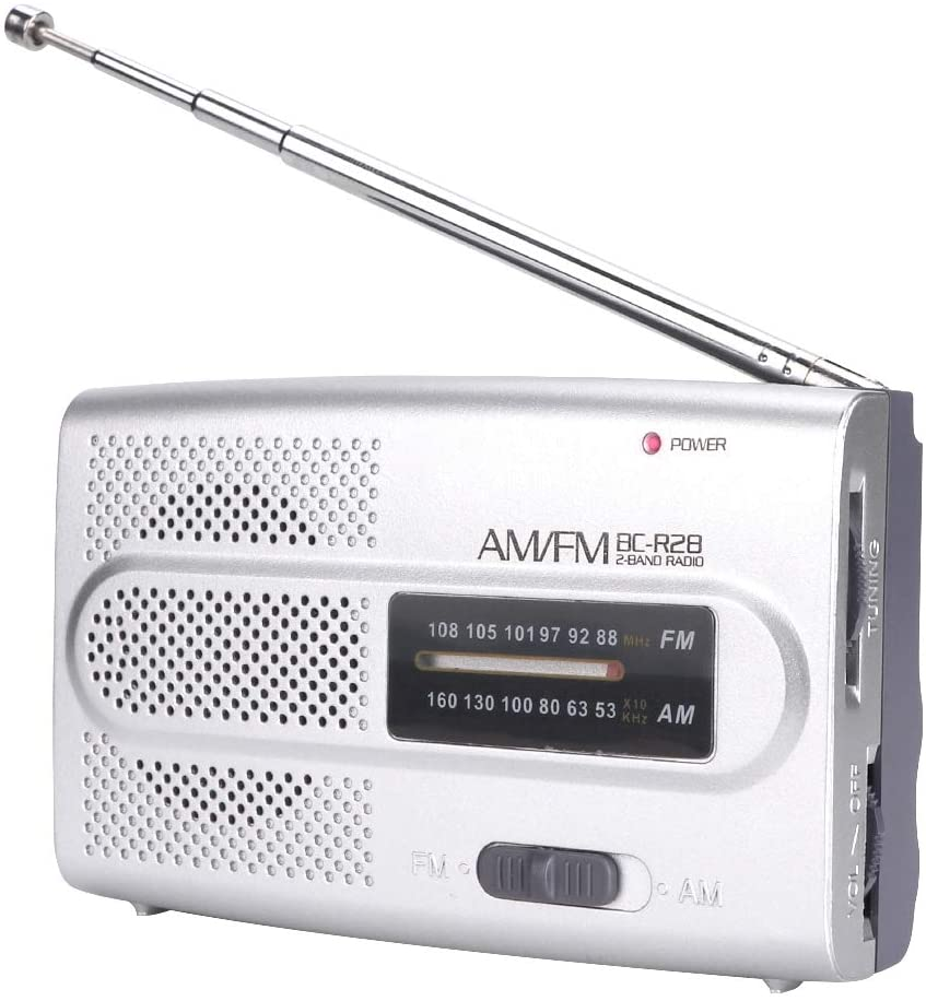 AM FM Battery Operated Portable Pocket Radio,with a Retractable Antenna, and Built-in Speaker,AM FM Compact Transistor Radios Player Operated by 2 AAA Battery,Great for The Old