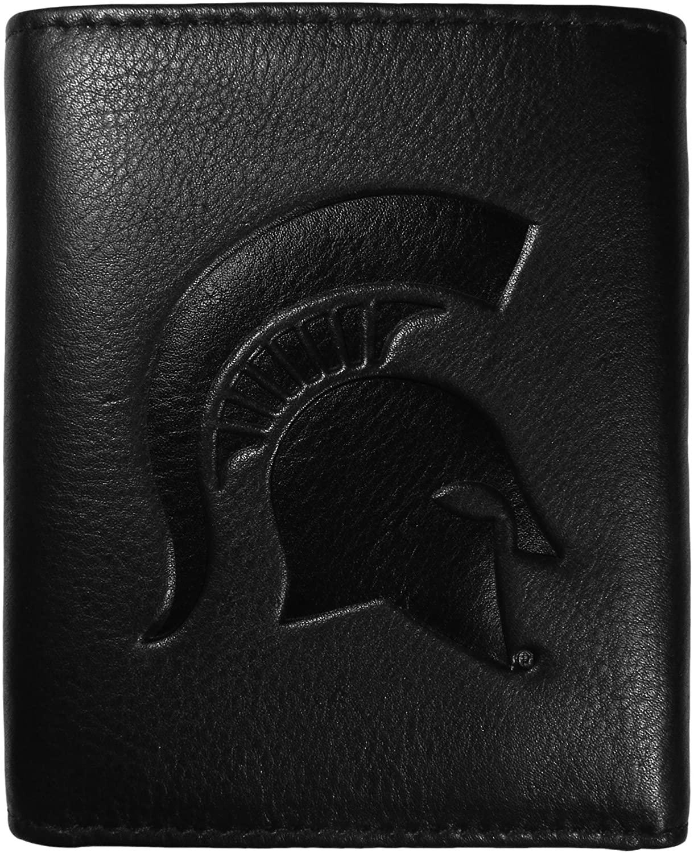 Siskiyou NCAA mens Embossed Leather Tri-fold Wallet